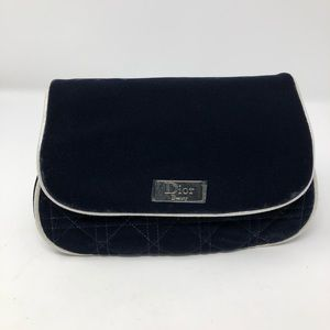 Christian Dior Blue Velvet Cosmetic Bag